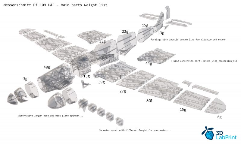 Messerschmitt Bf 109 H F 3dlabprint