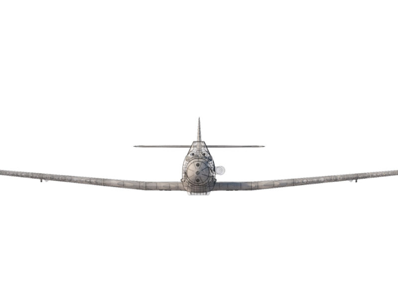 me109h_front_view