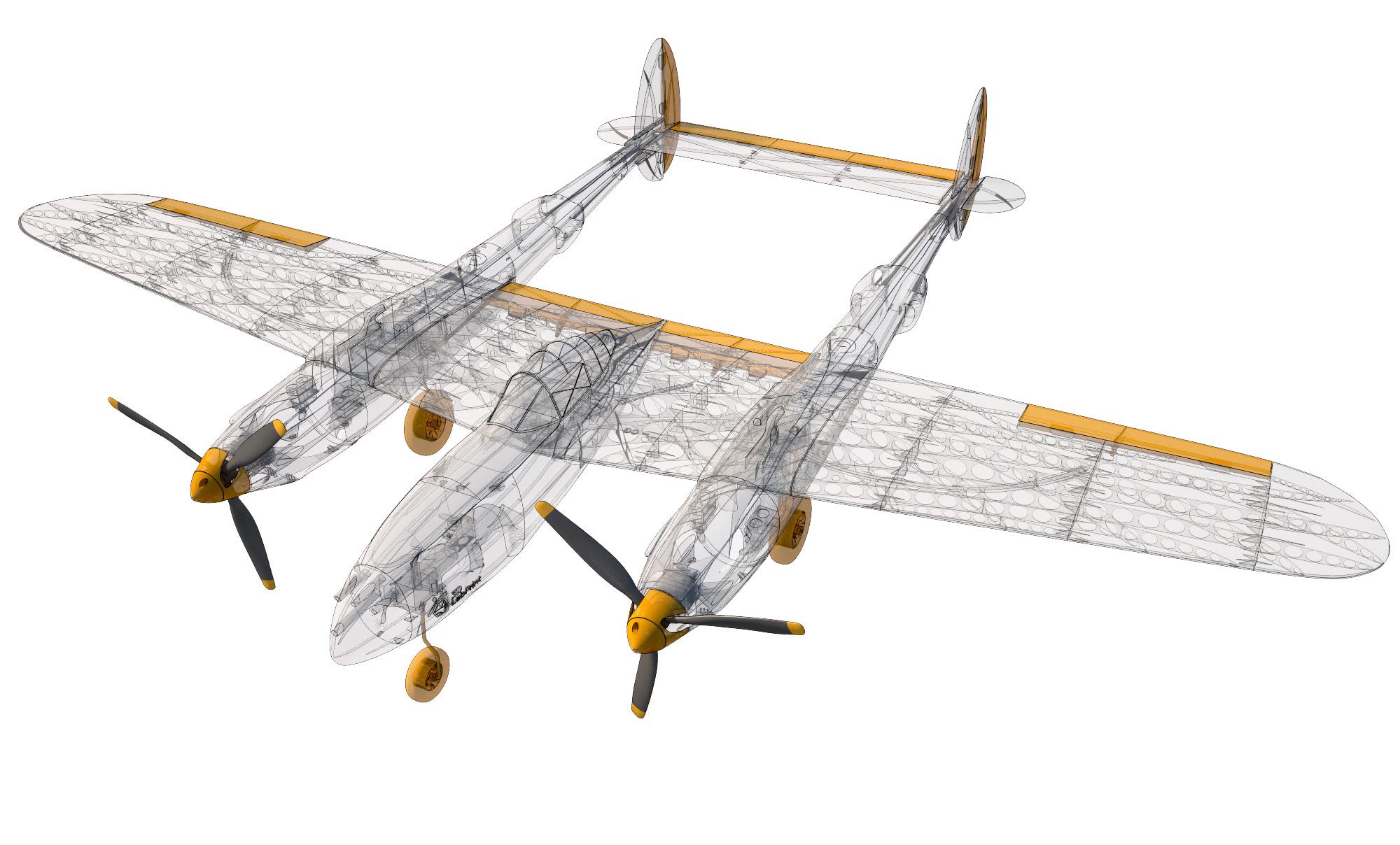 Lockheed P-38 Lightning – 3DLabPrint