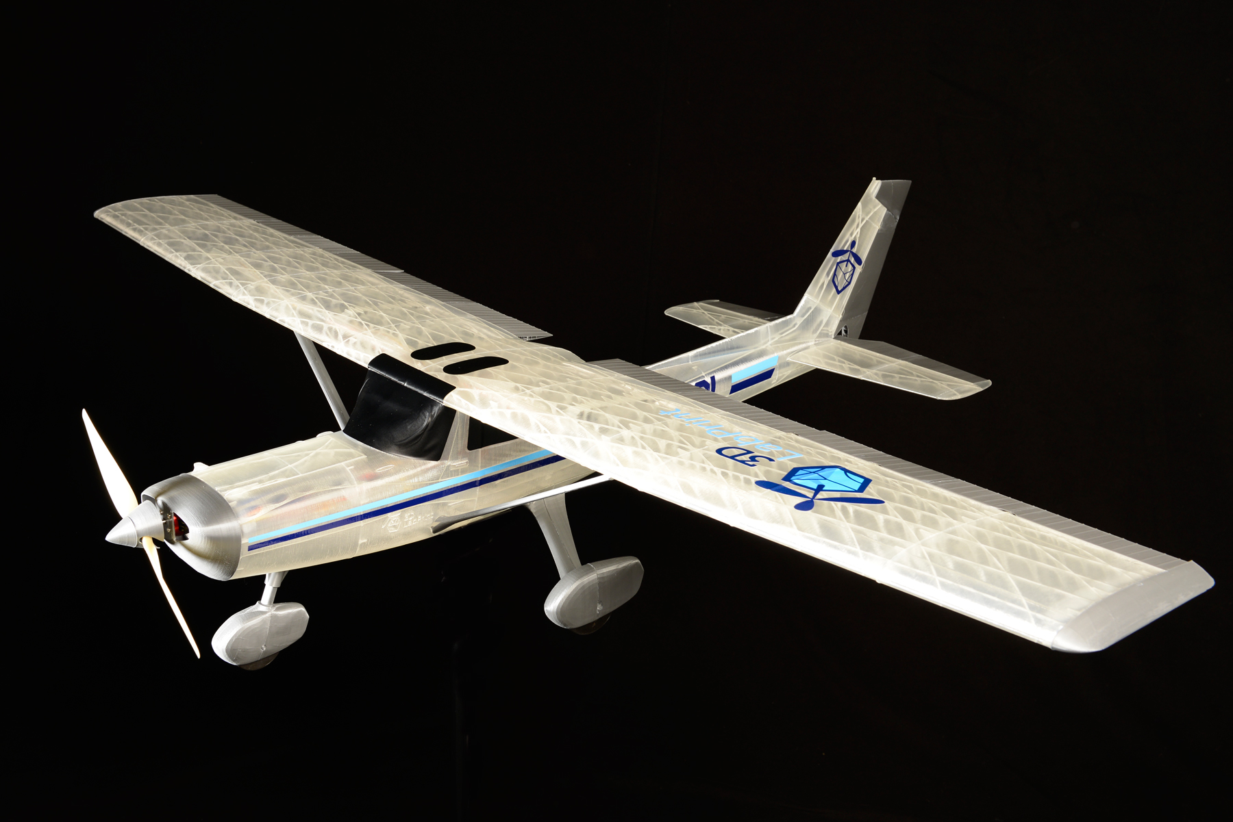 Cessna 152 based trainer sport plane 3dlabprint for Airplane plan